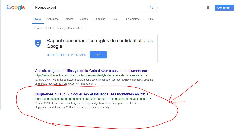 Positionné 2ème sur Google